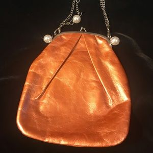 """Hobo Int'l """"Gracie"""" Crackle Copper Leather Bag"""